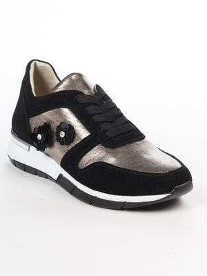Кросівки чорно-золотисті | 5048491