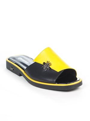 Шлепанцы желто-черные | 4914975