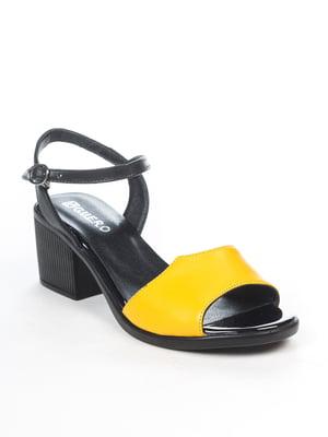 Босоножки черно-желтые | 5057206