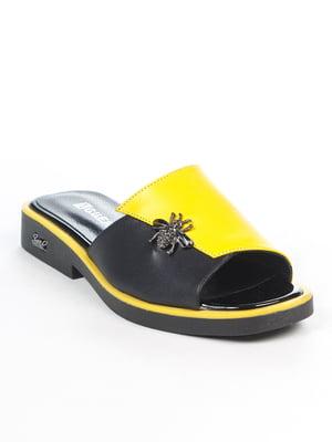 Шлепанцы желто-черные | 4914976