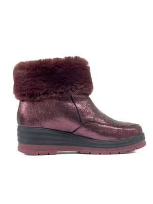 Ботинки бордовые | 5063954