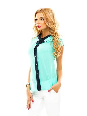 Блуза м'ятного кольору | 4615781
