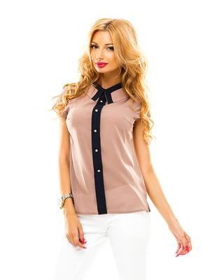 Блуза темно-бежева | 4655310