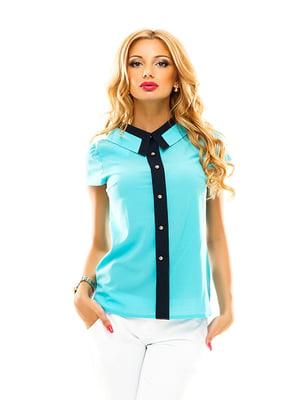 Блуза блакитна | 4655311
