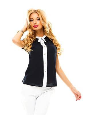 Блуза темно-синяя | 4655314