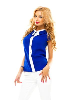 Блуза цвета электрик | 4655316