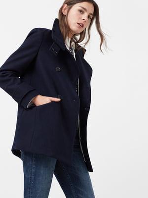 Пальто темно-синее | 5047460