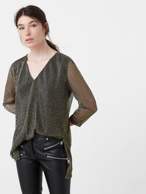Блуза черно-золотистая   5064950