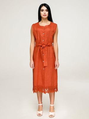 Платье кирпичного цвета | 4917529