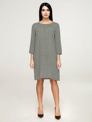 Сукня оливкового кольору в принт   4917547