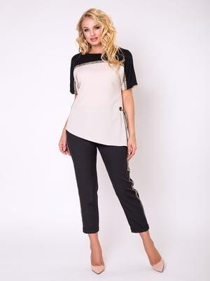 Блуза двоколірна | 5066758