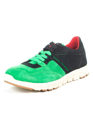 Кроссовки черно-зеленые | 5057037