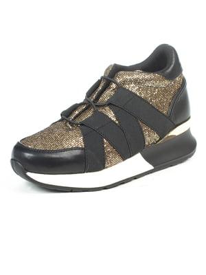Кроссовки черно-золотистые | 5057080