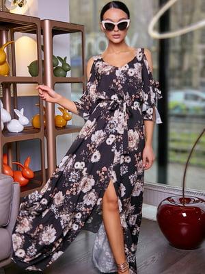 Платье в цветочный принт | 5071226