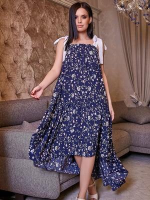 Платье в цветочный принт | 5071235