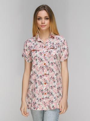 Блуза фрезового кольору | 5063994