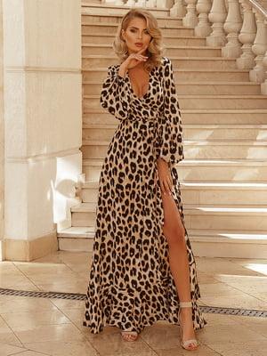 Платье в анималистичный принт | 5069128