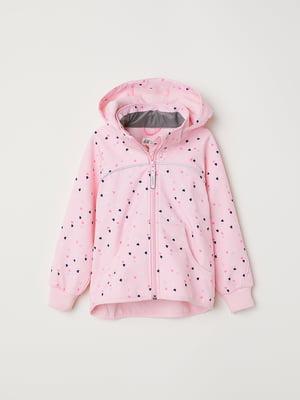 Куртка рожева в принт   5047497