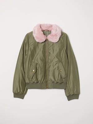 Куртка кольору хакі   5068547