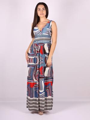 Платье в синее принт   5073492