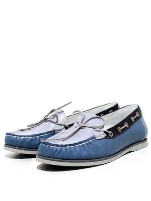Мокасини синьо-блакитні   5026980
