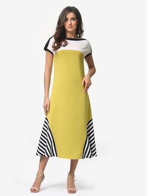 Платье горчичного цвета | 5074655