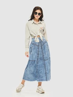 Юбка синяя джинсовая | 5075479