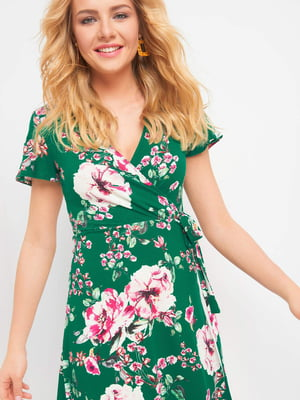 Сукня зелена в квітковий принт | 5075939
