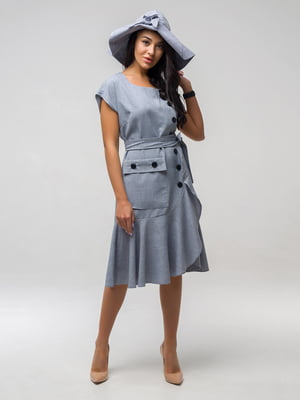 Сукня світло-сіра | 5076526