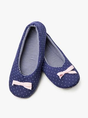Тапочки синие | 5076611