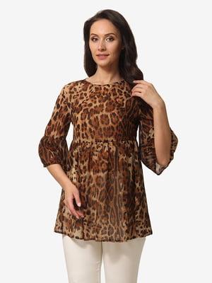 Блуза анималистичной расцветки | 5079859