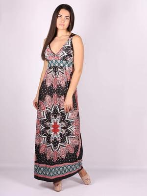 Платье черное в принт | 5079905