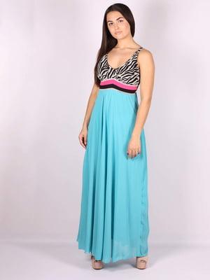 Платье голубое   5079906