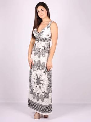 Платье бело-серое | 5079910