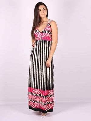 Платье черно-малиновое | 5079919