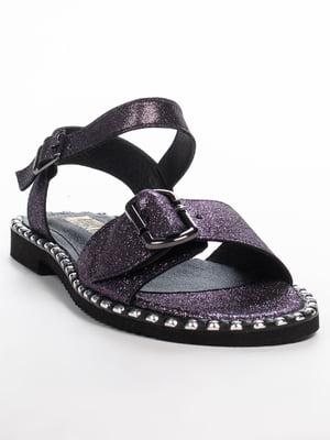 Сандалії темно-фіолетові | 5057142