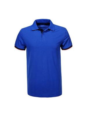 Футболка-поло синяя | 5075357