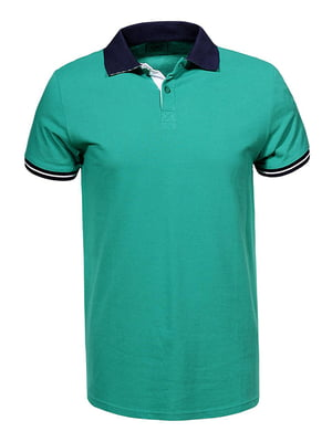 Футболка-поло зелена | 5075366