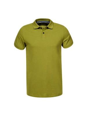 Футболка-поло оливкового кольору | 5075515