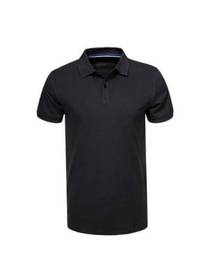 Футболка-поло чорна | 5075517