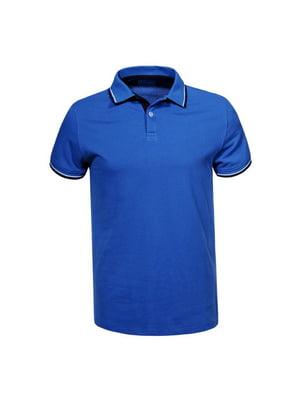 Футболка-поло синя | 5075520