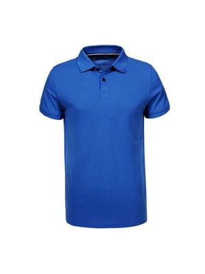 Футболка-поло синя | 5075921