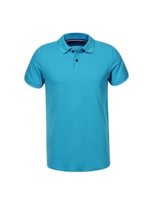 Футболка-поло блакитна | 5076400