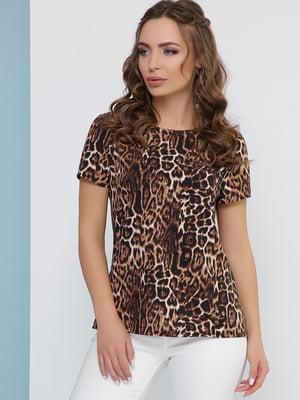 Блуза анімалістичного забарвлення | 5080805