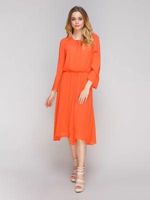 Платье оранжевое | 4614847