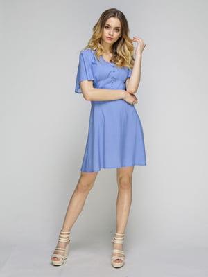 Платье голубое в горошек | 5080250