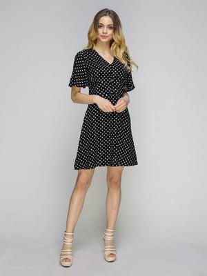Платье черное в горошек   5080252