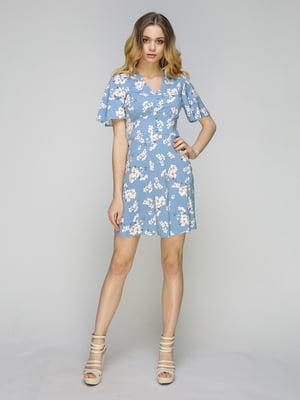 Сукня блакитна в квітковий принт   5080253