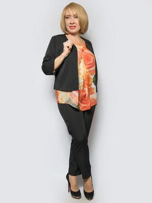 Костюм: жакет, блуза и брюки | 5081136