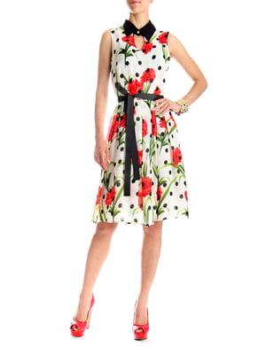 Сукня в комбінований принт   5081228